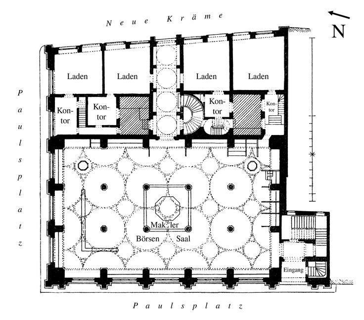 Floor Plan Of The Stock Exchange Building Frankfurt