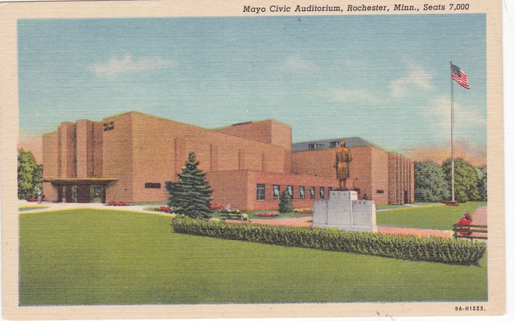 Mayo Civic Auditorium Rochester Minnesota Postcard This is where my high school graduation took ...