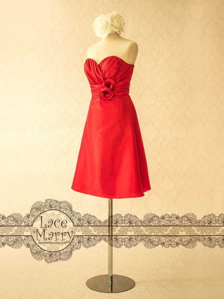 Sweetheart Neckline Knee Length Red Bridesmaid Dress, this but in purple
