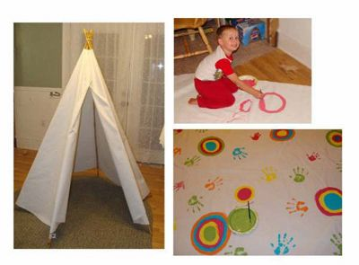 How to build a DIY childrens Teepee with instructions :)