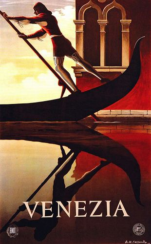 Vintage Venice Italy Travel Poster