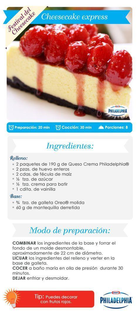 ¡Rápido y delicioso! Disfruta este #cheesecake express. | https://lomejordelaweb.es/