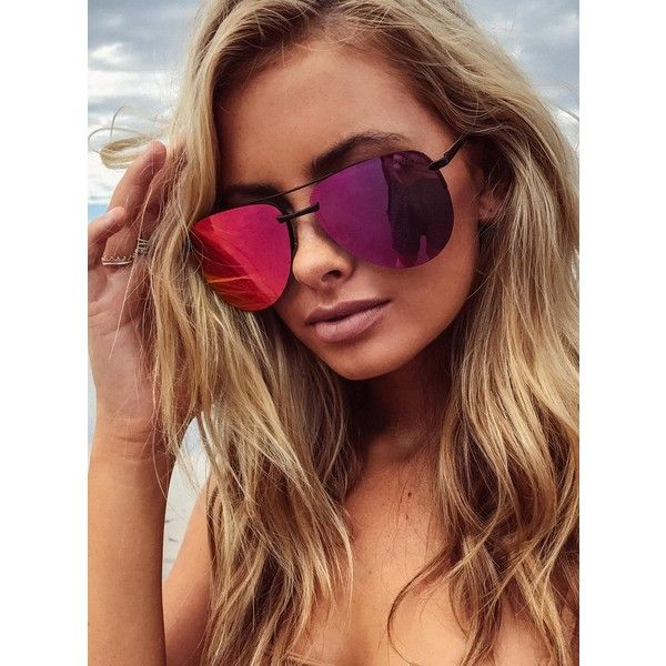 Quay Australia Quay The Playa Sunglasses (890 MXN) ❤ liked on Polyvore featuring accessories, eyewear, sunglasses, pink, aviator style sunglasses, pink mirrored aviators, mirror aviator sunglasses, quay sunglasses and mirror lens aviators