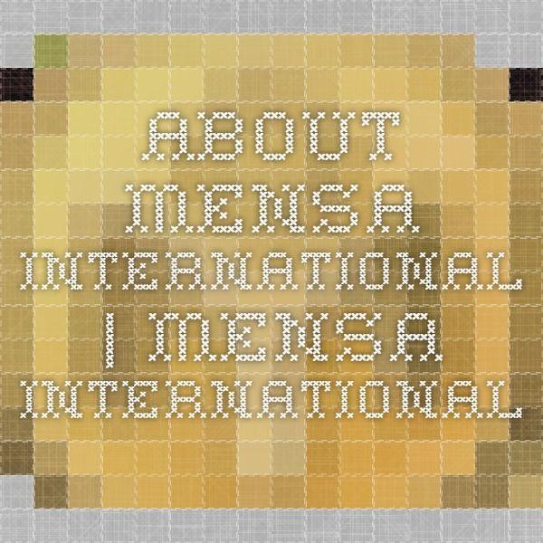 About Mensa International   Mensa International