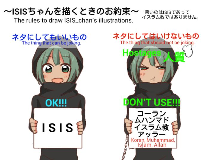 The rules to draw ISIS-chan's illustrations
