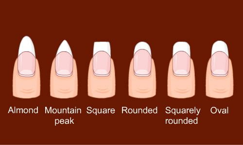 Different ways to shape your #nails