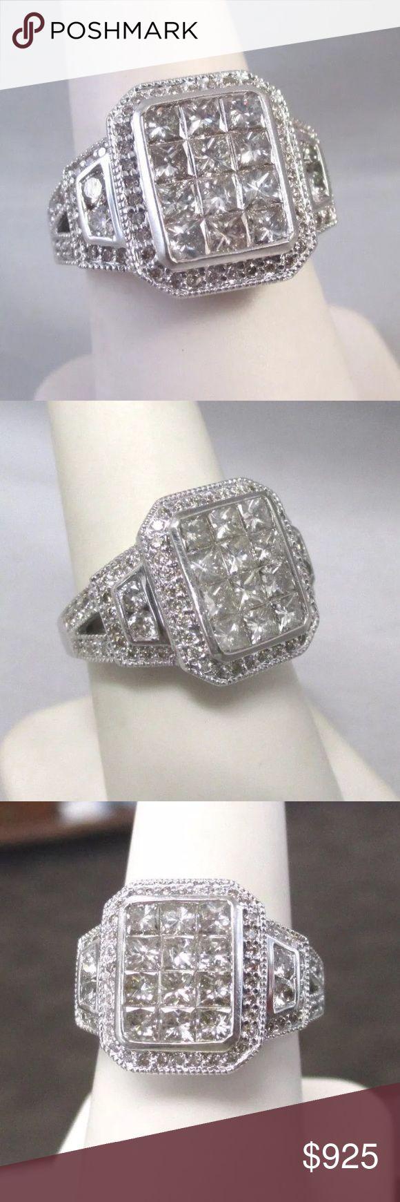 Amazing 2.10 carat 10k white gold diamond ring Amazing 2.10 carat 10k white gold diamond ring Jewelry Rings