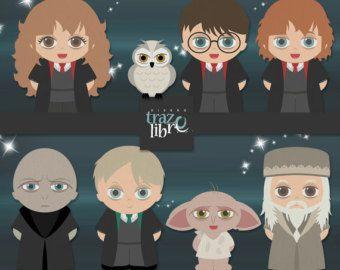 Digitale illustraties: Harry Potter Clipart | INSTANT Download | digitale papier | digitale illustraties | digitale clipart | Scrapbooking | PNG