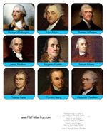 Founding Fathers Printables and Games for Lapbook pocket