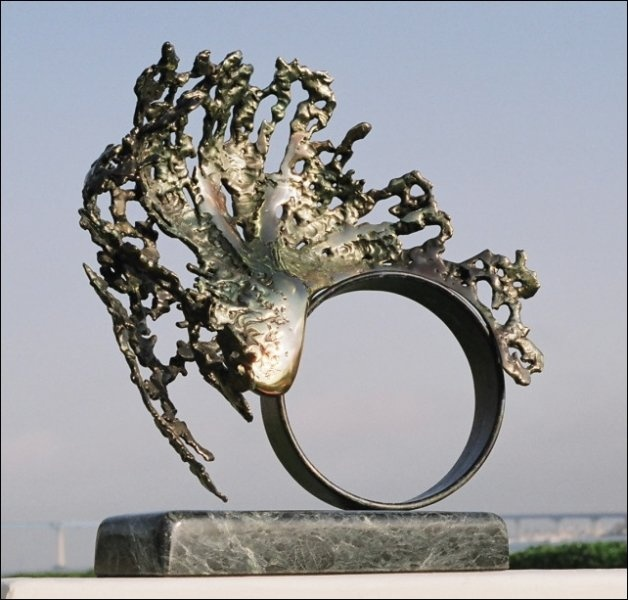 Breaking Wheel  Bronze Sculpture by Ron Jermyn