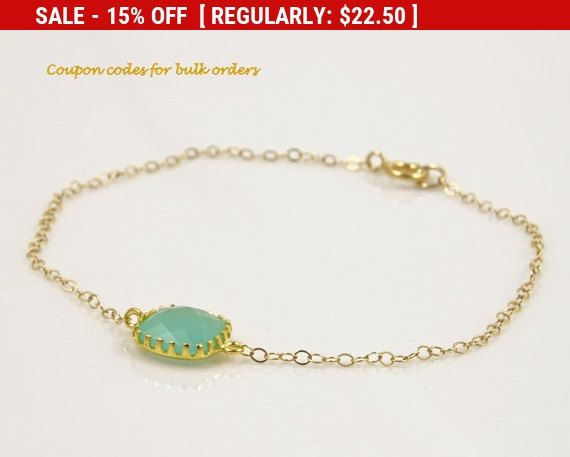 Mint Green Bracelet for Women Gifts for Her, Bridesmaid Gift Bracelet, Maid of Honor Gift for Best Friend Gift, Wedding Gifts for Bride