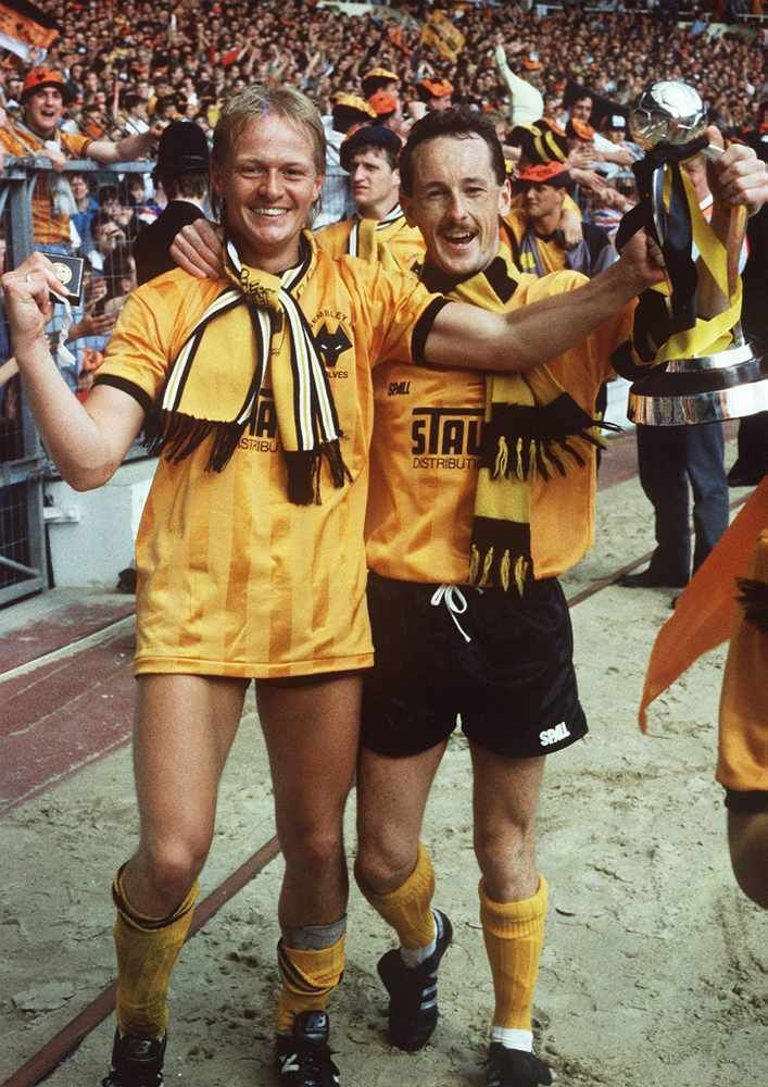 Keith Downing and Nigel Vaughan at Wembley in 1988