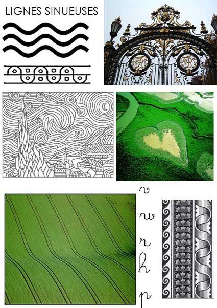 Graphisme: lignes sinueuses ( vagues )