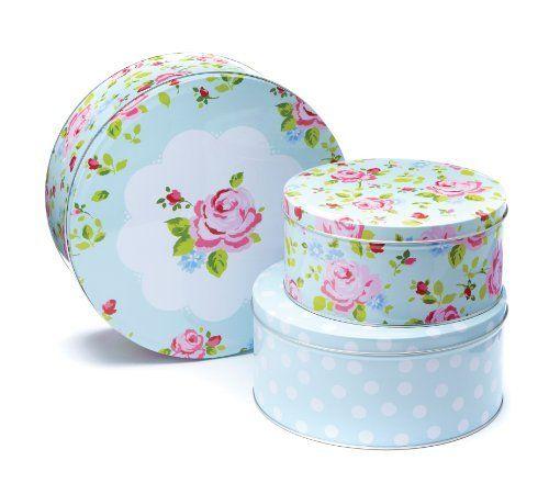 Cooksmart Cake Tins, Set of 3, Vintage Floral by Cooksmart, http://www.amazon.co.uk/dp/B008HRH420/ref=cm_sw_r_pi_dp_zNIHsb0P6XPNP