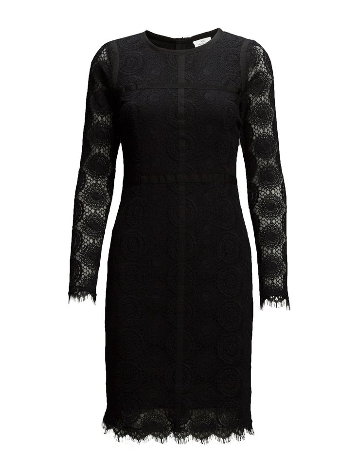 DAY - Day Veneer-Concealed back zip closure Lace overlay Shaping darts Fitted waist Sophisticated