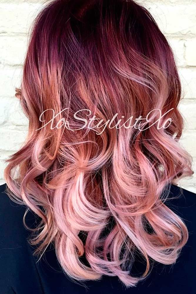 #rosegold #lecoloriste #coloration #hairbesties Trend This Year ★ See more: http://lovehairstyles.com/rose-gold-hair-color-trend/