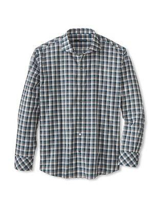 75% OFF Zachary Prell Men's Darren Checked Long Sleeve Shirt (Darren Blue Combo)