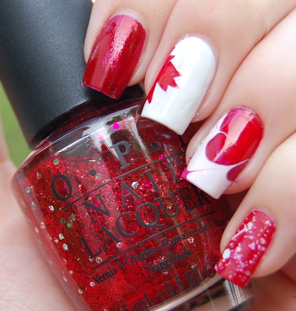 Gorgeous nail art for Canada Day! #CanadaDayLondon #nailart