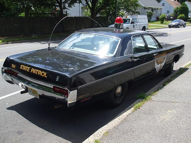 restored 1960s highway patrol car police cars