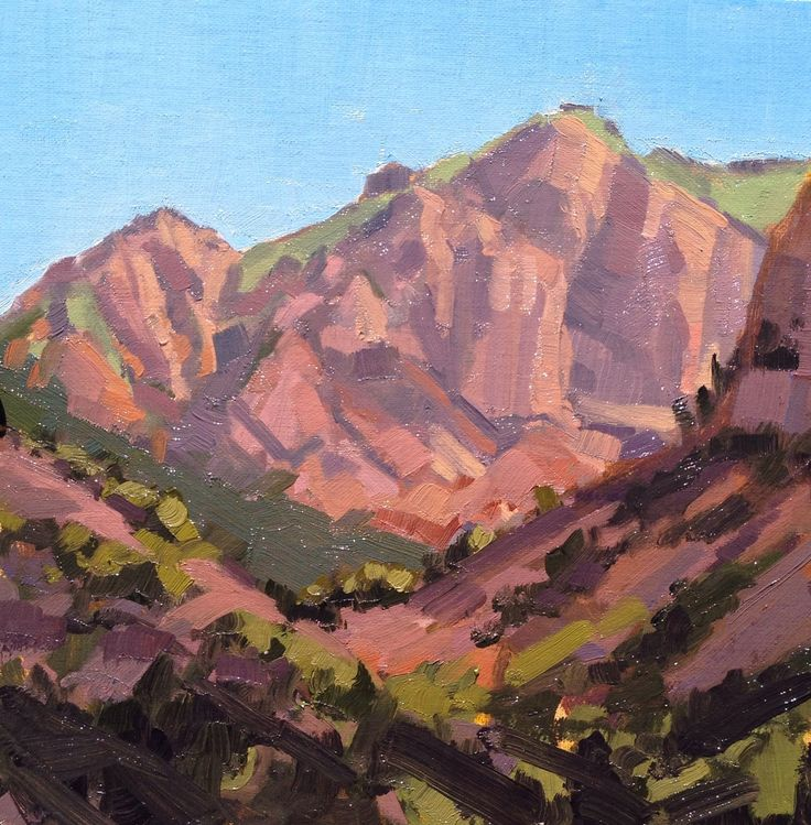 "Third Bend At Kolob Canyons 8x8"" jabens0614"