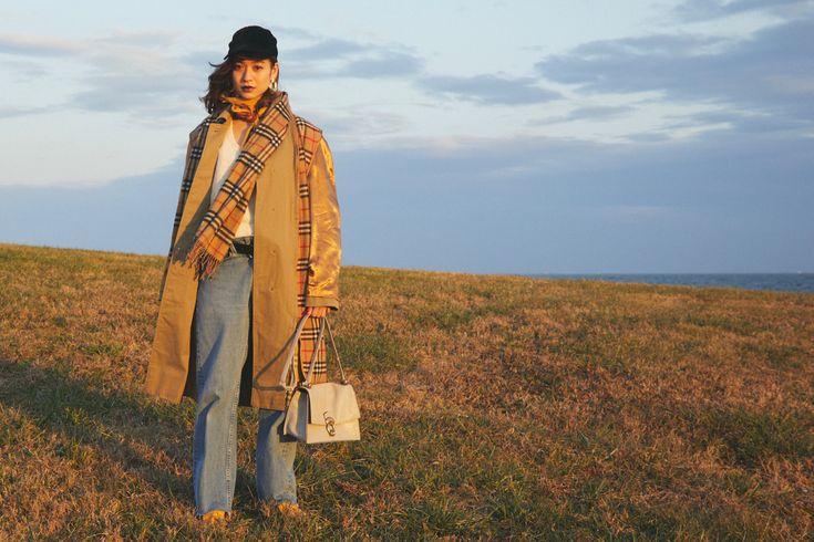 ブルーデニム、「何」を買って「どう」着る? /ネオトラッド編 #冬コーデ#コート#マフラー#ニットコーデ#デニムスタイル
