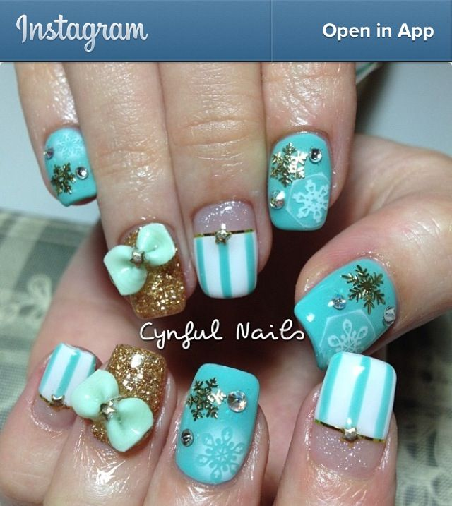Tiffany Blue Snowflakes