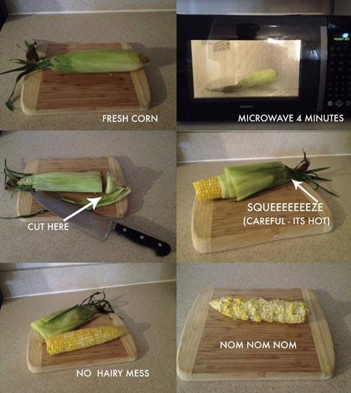 How To Cook Corn on the Cob in the Microwave.