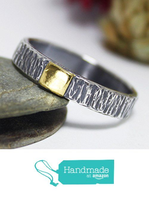 Thick Golden Square Tree Bark Sterling Silver 24K Keum-boo Ring, Hammered Ring, Rustic Silver Ring, Keum-Boo Ring, Engagement Ring from rosajuri https://www.amazon.com/dp/B01N0AHK2V/ref=hnd_sw_r_pi_dp_E6eczb1ARRJVH #handmadeatamazon