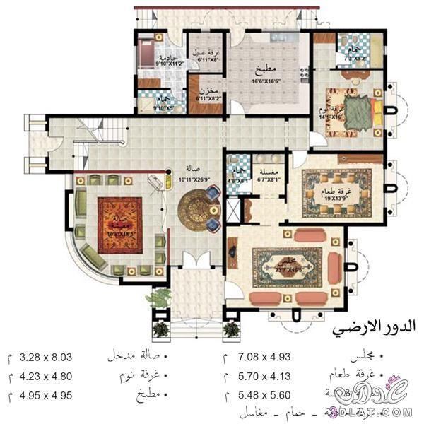 احدث تصاميم الخرائط الحديثة للمنازل صورة الواجهة الارضي والاول House Floor Design Home Design Floor Plans Architectural Floor Plans