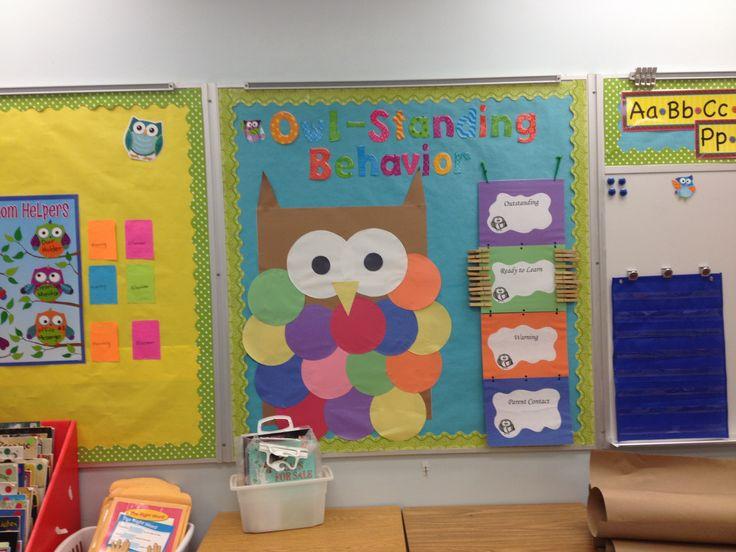 Classroom Reinforcement Ideas : Owl behavior chart bulletin board ideas pinterest