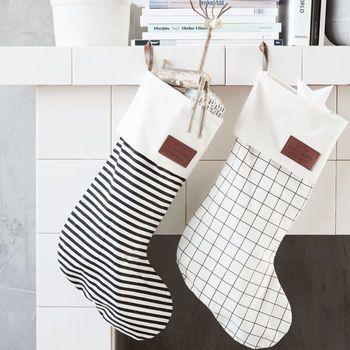 Monochrome Christmas Stocking