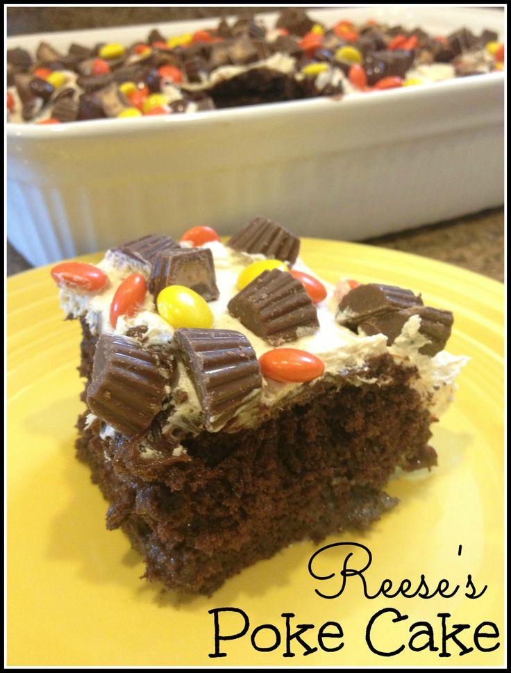 Reese S Peanut Butter Chocolate Poke Cake Recipe