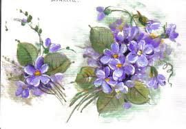 riscos de violetas para pintar - Pesquisa Google
