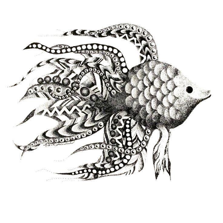 POINTILLISM fish print by StudioAmyLynn on Etsy https://www.etsy.com/listing/262741412/pointillism-fish-print
