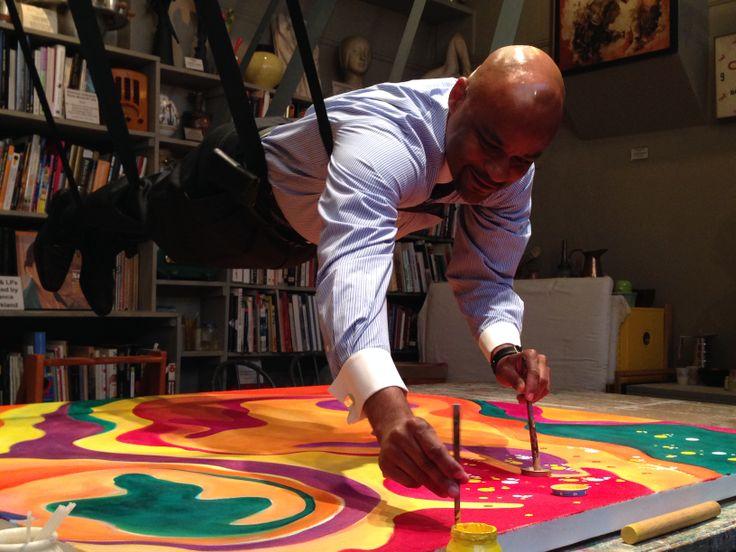 Demonstrating the Kirkland method for the kickoff of Denver Arts Week 2013 11/1/13