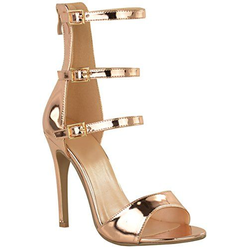 Fashion Thirsty Womens High Heel Strappy Sandals Open Toe Party Prom Shoes Size 8... Fashion Thirsty¨ branded products are only available exclusively through Fashion ThirstyGorgeous High Heel Sandals With Pretty 3 Strap DesignApprox Heel Height: 4.5 Inches / 11.4 cmApprox Platform Height: 0.4 Inches / 0.9 cmStiletto Heel – Buckle FasteningPlease Order Usual US Size But......http://bit.ly/2md7heM