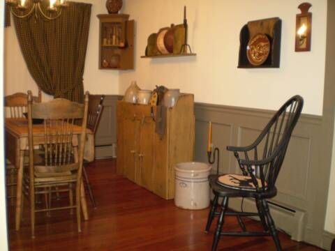I Like The Wall PanelsA Primitive Place Colonial Inspired Dining Rooms