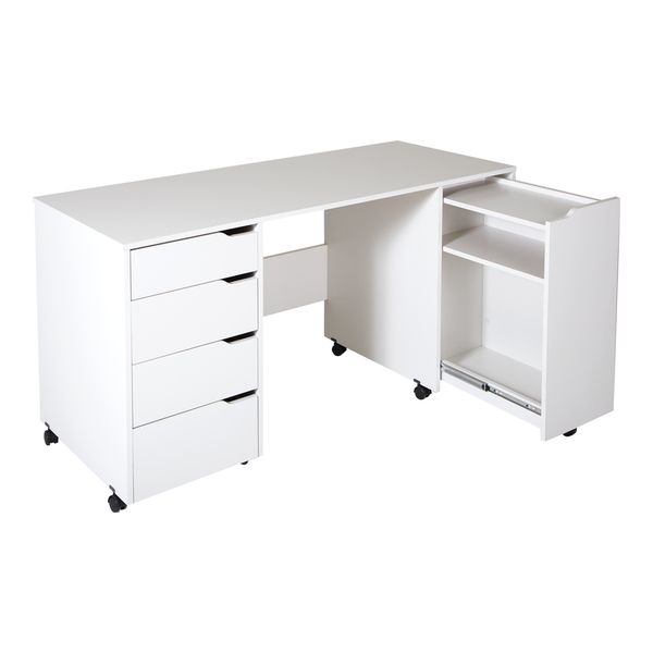 The Sewing Craft Table on Wheels can be your own dedicated work space for handicrafts, sewing or jewelry making and more. This sewing table from the Crea collection means you can set up your own creat