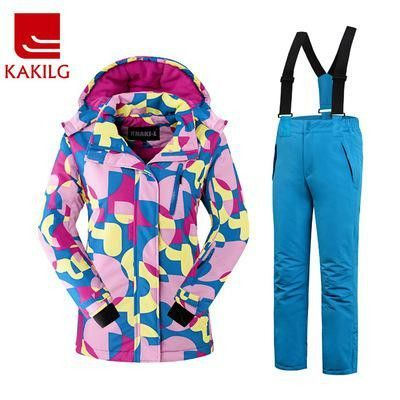 Brand New Women Outdoor Sports Ski And Snowboarding Clothes Set Female Windproof Waterproof Breathable Warm Jacket+pants