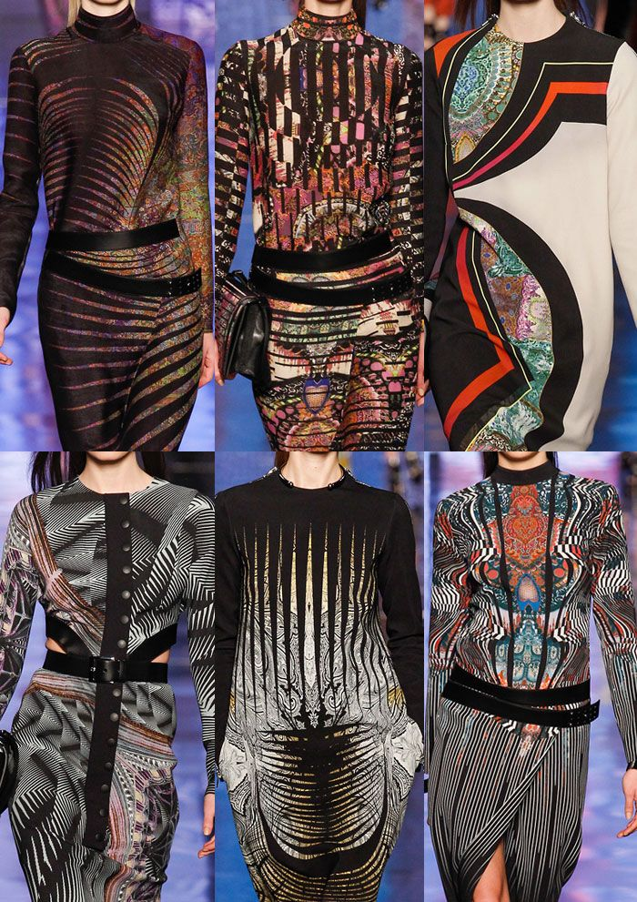 Milan Fashion Week   Autumn/Winter 2013/14   Print & Pattern Highlights   Part 1 catwalks