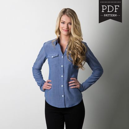 Instantly download PDF top or blouse sewing patterns and start sewing right away!