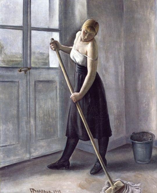 Girl at Work ~ François-Emile Barraud 1933