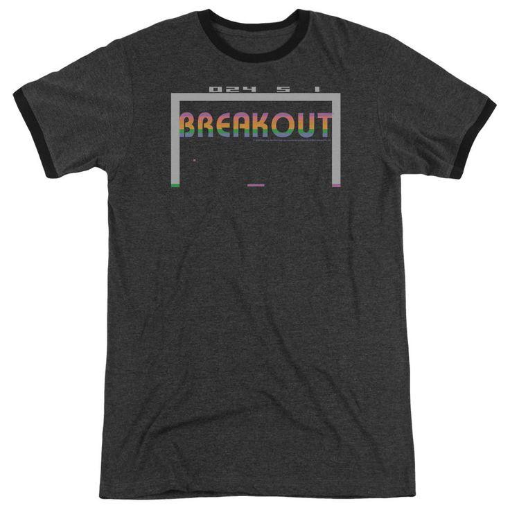 Atari Breakout 2600 Charcoal Ringer T-Shirt