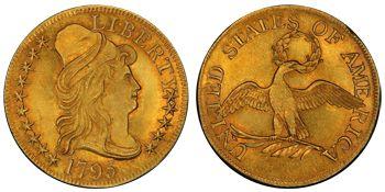 1795 Draped Bust Small Eagle ☆ Více informací o výstavě Flowing Hair naleznete na oficiální stránce http://www.flowing-hair.cz/
