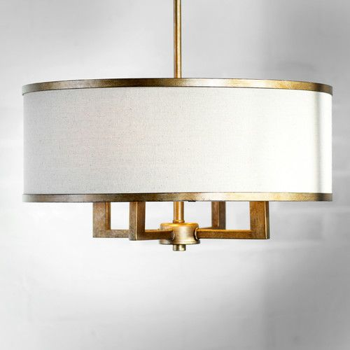 Found it at AllModern - Bisbee 4-Light Drum Chandelier, for space next to dining room