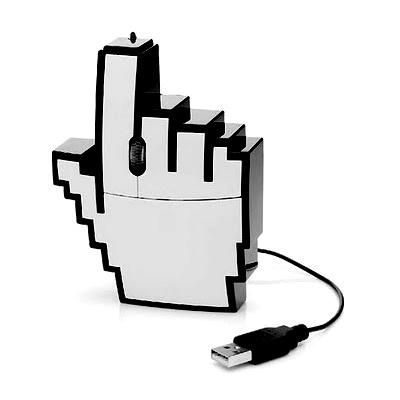 Siempre necesitamos una mano que nos eche una mano. Si tu también la necesitas, aquí la tienes. Es el ratón mano pixelada que tantas veces nos aparece en la pantalla de nuestro ordenador.