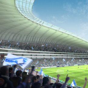 NUEVO ESTADIO CLUB MONTERREY;  Diseño: POPULOUS  (antes HOK Sport Venue Event y VFO Arquitectos antes HOK México)