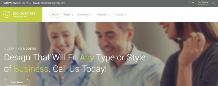 Big Business - responsive #Joomla #business #template suitable for any style business #website.