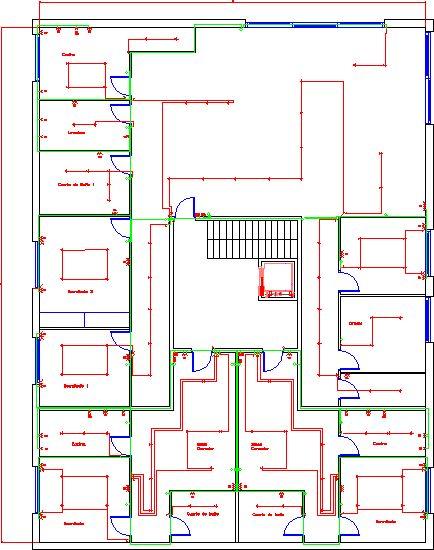 Ejemplo de plano de instalaciones el ctricas en una for Planos para viviendas