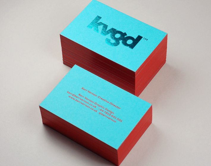 kvgd stationery foil blocking by glasgow press graphic design
